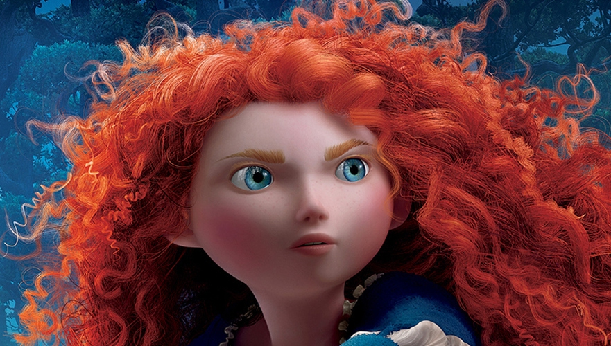 Merida's fabulous hair.