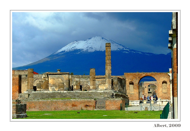 ABOVE: Pompeii postcard, made thanks to art